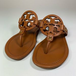 Tory Burch Miller FlipFlop Sandal Vachetta Leather